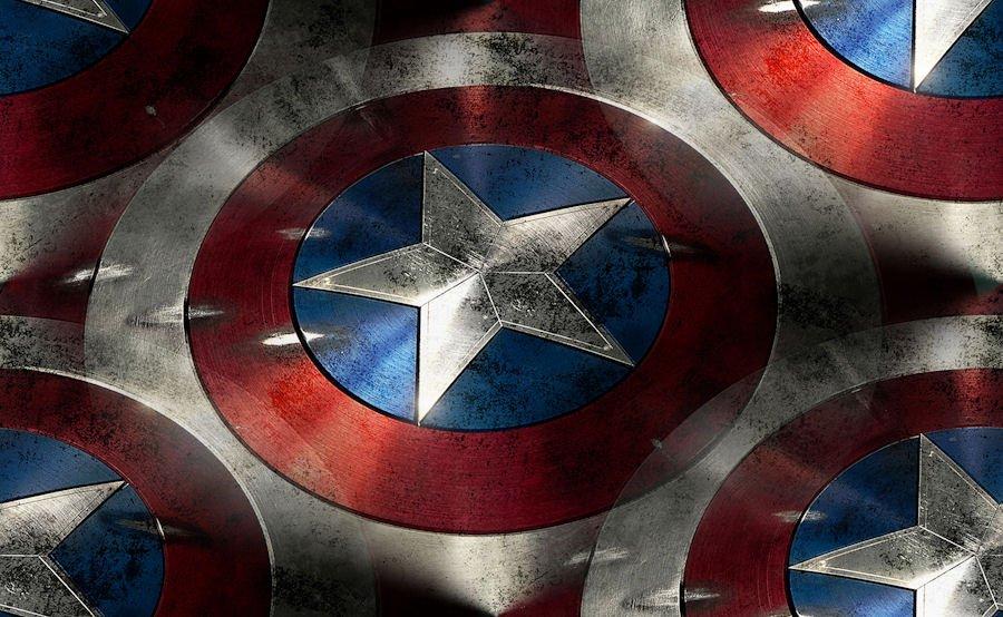 MARVEL Boy's Size 8 Avenger Captain America Costume 4-Piece Pajama Set