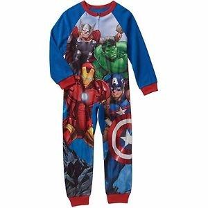 MARVEL AVENGERS Boy's Size 10/12 Fleece Blanket Pajama Sleeper
