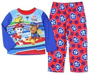 PAW PATROL Toddler Boy's 3T, 4T OR 5T Fleece Pants Pajama 2 Piece Set