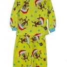 NICKELODEON SPONGEBOB SANTA 4T Fleece Christmas Pajama Set
