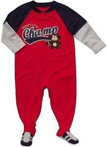 CARTER'S Boy's 18 Months MOMMY'S LITTLE CHAMP Monkey Pajama Sleeper