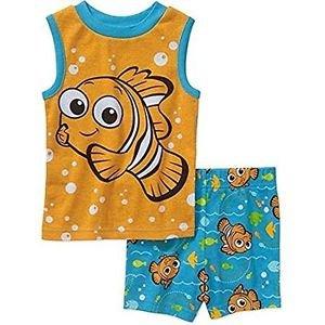 DISNEY Baby Boy's 18 OR 24 Months NEMO Pajama Shorts Set