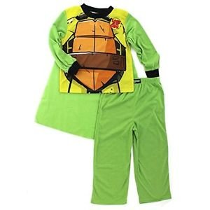 TMNT Teenage Mutant Ninja Turtles Boys Size 8 Green Pajama Set with Cape