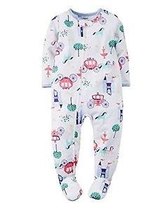 CARTER'S Girl's 5T Cinderella Fairy Tale Footed Pajama PJ Sleeper