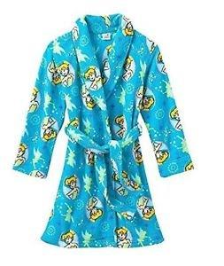 Disney Princess Tinkerbell Girl's 7/8 OR 10/12 Plush Bathrobe Fleece Robe