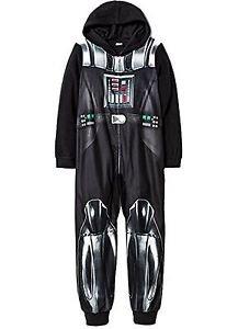 STAR WARS Boy's Size 8 OR 10 DARTH VADER Hooded Footless Pajama Sleeper