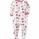 CARTER'S Girl's 24 Months Christmas Cookies Fleece Footed Pajama Sleeper