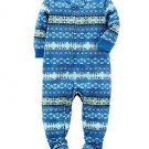 CARTER'S Boy's 4T Blue Fair Isle Fleece Footed Pajama Sleeper