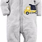 CARTER'S Baby Boy's 6 Months Soft Striped Dumptruck Terry Cotton Pajama Sleeper