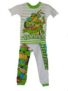 TEENAGE MUTANT NINJA TURTLES Size 6 OR 8 4-Piece Pants Shorts Tops Pajama Set