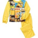 DESPICABLE ME MINIONS Size 8 Picture Blocks Flannel Pajama Pants Set