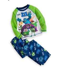 DISNEY MONSTERS University Size 4 SCARERS Jersey and Fleece Pajama Set