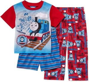 Thomas and Friends Boy's 3T OR 4T 3-Piece Pajama Shorts, Pants Set
