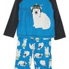 Toddler Boy's 3T Polyester Jersey Bundled Up For Bed Polar Bear Pajama Set