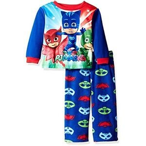 AME Boys' 3T Pj Masks 2-Piece Fleece Pajama Set, Catboy, Owlette, Gekko