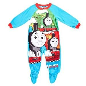 Boy's 4T Thomas and Friends STEAM TEAM Fleece Footed Blanket Pajama Sleeper