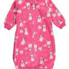 Baby Girls 24 Months Pink Snowman Applique Zip Up Fleece Sleepsack, Bag