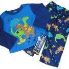 Baby Boy's 12 Months DINOSAUR DINO Polyester Flannel Pajama Pants Set