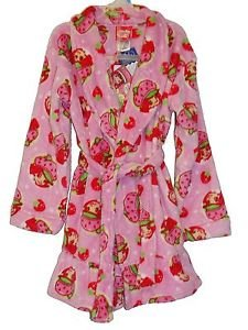Girl's Size 3T OR 4T Pink Fleece STRAWBERRY SHORTCAKE Bathrobe, Robe