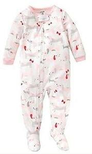 CARTER'S Girl's Size 5T DACHSHUND DOG Fleece Footed Pajama Sleeper