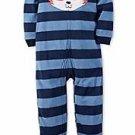 Carter's Boy's Size 5T Striped FOX Fleece Footed Pajama Sleeper