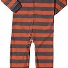 Carter's Boy's Size 5T Fleece Striped Football Pajama Blanket Sleeper, PJ'S