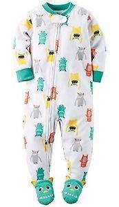 Carter's Boy's Size 5T Fleece Monster Pajama Blanket Sleeper, PJ'S