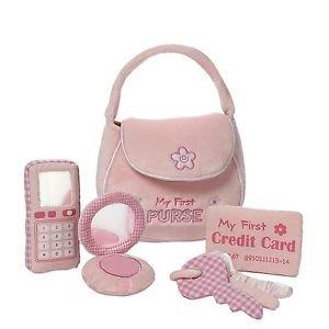Gund BabyGund MY FIRST PURSE Pink Plush Playset, 4048450