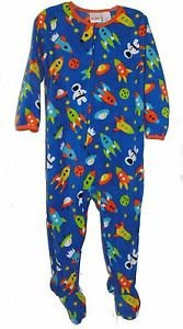 Boy's Size 3T OR 4T Fleece Footed Blanket Pajama Sleeper, Space, Astronaut