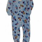 Toddler Boy's Size 3T Blue FireTruck Teddy Fleece Footed Pajama Blanket Sleeper