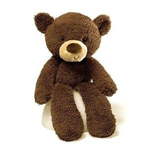 "GUND FUZZY BEAR Baby Boy's Girl's, PLUSH, CHOCOLATE BROWN, 13.5"""