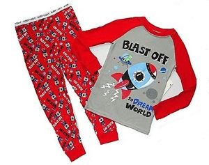 GARANIMALS Boy's 3T SPACE SHUTTLE SHIP ROCKET Blast Off Pajama Pants Set