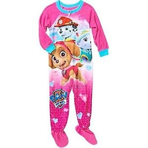 PAW PATROL Girls 3T Skye, Marshall and Everest Fleece Footed Pajama Sleeper