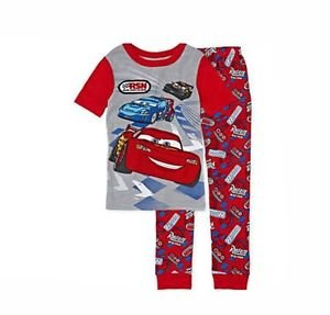 DISNEY CARS Size 7 OR 8 Lightning McQueen, Max and Raoul Racing Pajama Set