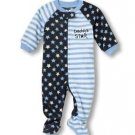 TCP The Children's Place Boy's 3T Daddy's Star Fleece Footed Pajama Sleeper