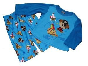 Baby Boy's 12 Months Pirate Puppy Polyester Flannel Pajama Pants Set