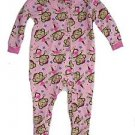 MON PETIT Girl's 24 Months Pink Fleece Footed Pajama Sleeper