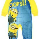 DESPICABLE ME MINION OOPS! 4T Fleece Footed Blanket Pajama Sleeper