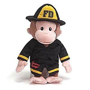 "GUND Classic Children's Monkey Curious George as Fireman, 13"""