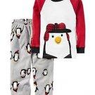 Carter's Boy's Size 3T, 4T OR 5T Winter Penguin Cotton Fleece Pants Pajama Set