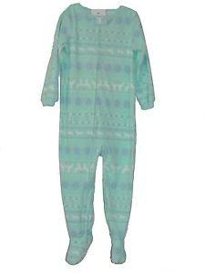Carter's Girl's Size 4T Mint Green Fair Isle Fleece Footed Pajama Sleeper