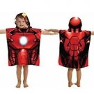 MARVEL IRON MAN Children's Hooded Terry Cloth Towel Bath Wrap