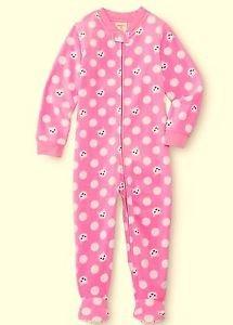 WONDER KIDS Girl's Size 4T Pink Kitty Cat Fleece Footed Blanket Pajama Sleeper