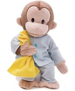"""GUND Classic Children's Monkey Curious George in Pajamas, Bedtime Blanket 16"""""""