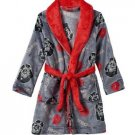 STAR WARS Darth Vader Galactic Cog Boys Size 8 OR 10 Fleece Bath Robe, Bathrobe
