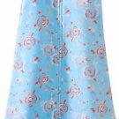 HALO Girl's Floral Turquoise Fleece Baby Sleepsack, Wearable Blanket