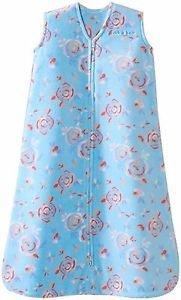HALO Girl's Floral Turquoise Fleece Baby Sleepsack, Wearable Blanket
