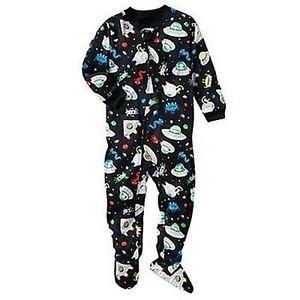 CARTER'S Boy's Size 24 Months Blue SPACE Aliens Pajama Sleeper