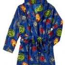 MARVEL Boy's 6/7, 8 OR 10/12 Avengers Hulk, Ironman, Fleece Bathrobe Robe