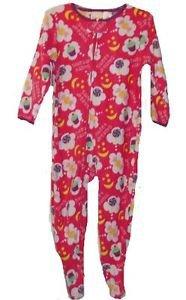 Girl's 24 Months Pink Fleece Footed Pajama Sleeper, Sweet Dreams Treats